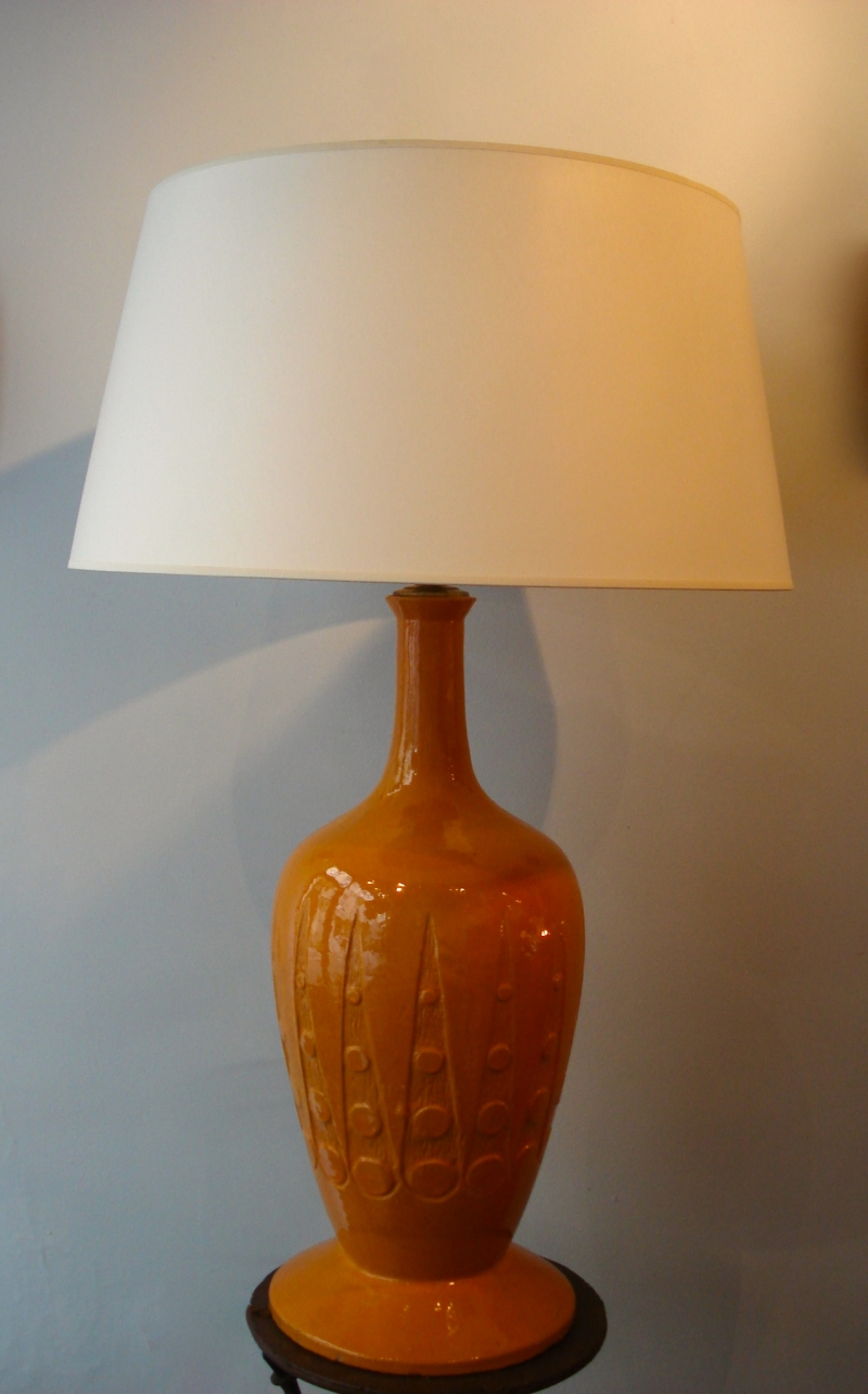 Vallauris' ceramic lamp, circa 1950