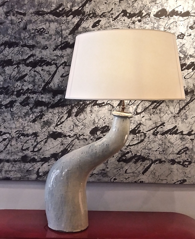 Ceramic lamp Vallauris circa 1960